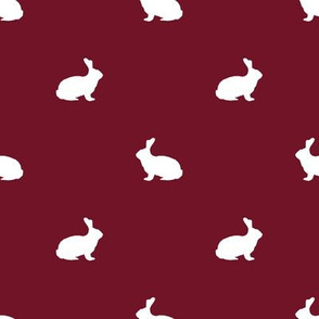 Rabbit fabric silhouette pattern ruby