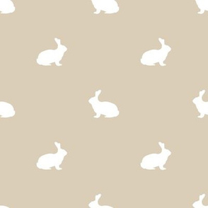 Rabbit fabric silhouette pattern sand