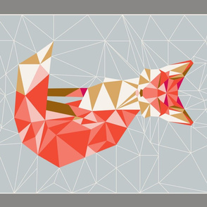 tea_towel_fox_geodesic_gris