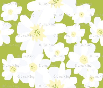 Paper Cut Florals; Daisies in a Field