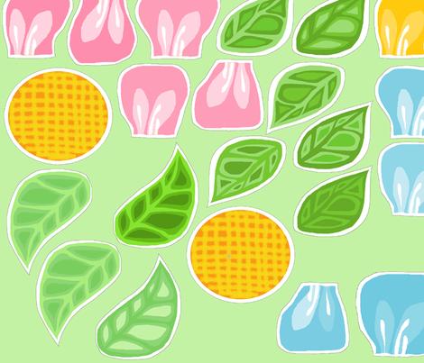 Spring Flowers Big fabric by palusalu on Spoonflower - custom fabric
