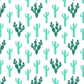 cactus fabric // blockprinted linocut fabric green desert summer 2017 fabric by andrea lauren
