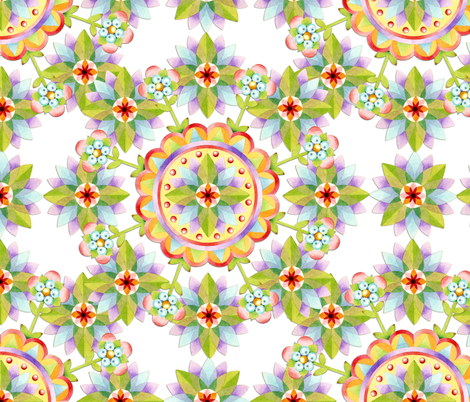 Starflower Blossoms fabric by patriciasheadesigns on Spoonflower - custom fabric