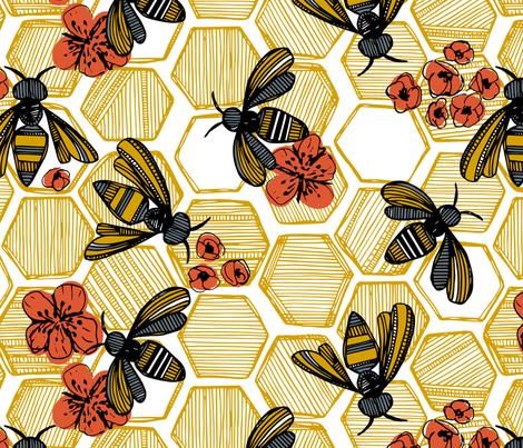Honey Bee Hexagon Large