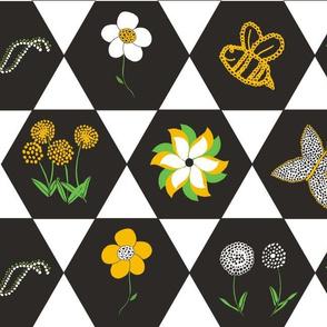 Hexagon Challenge Spring Flowers