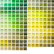 Green Swatch Color Map