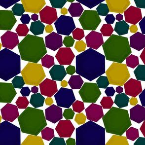 Painterly Bold Hexagons