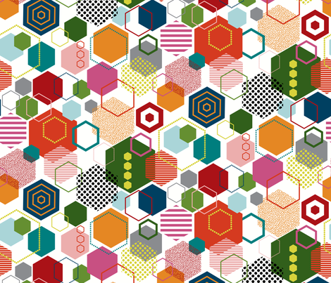 HexParty fabric by katerhees on Spoonflower - custom fabric