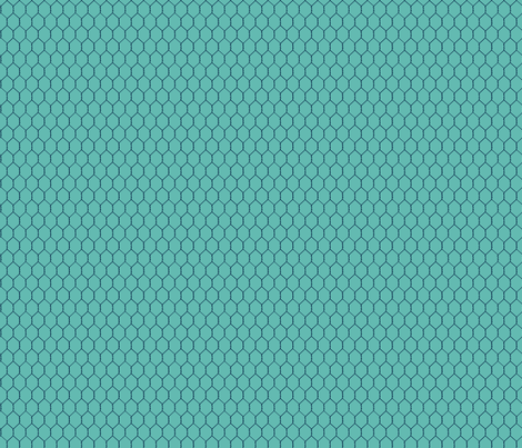 Chicken_Wire_Deep_Teal fabric by lana_gordon_rast_ on Spoonflower - custom fabric