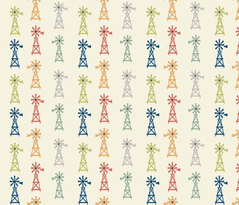 Windmills fabric by lana_gordon_rast_ on Spoonflower - custom fabric