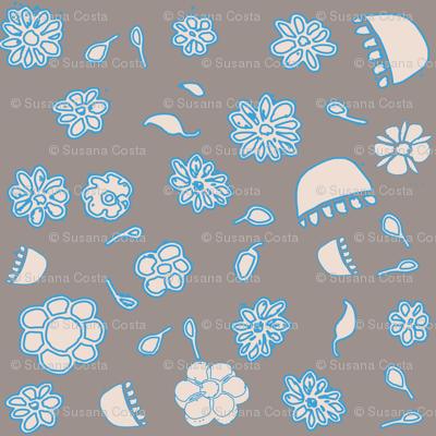 Paper flower blue
