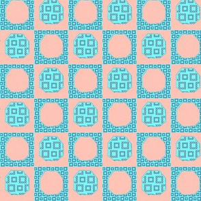 pink and blue hexi