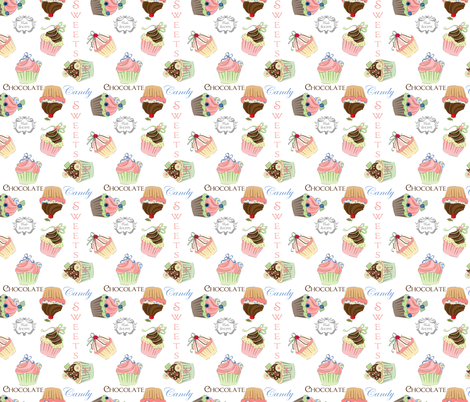 Cupcake_2_150dpi fabric by lana_gordon_rast_ on Spoonflower - custom fabric