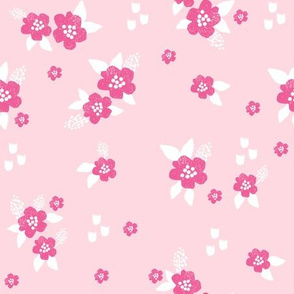 sweet florals // simple spring flowers monarch florals collection by andrea lauren - pink