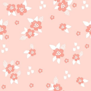 sweet florals // simple spring flowers monarch florals collection by andrea lauren - peach and coral