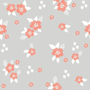 sweet florals // simple spring flowers monarch florals collection by andrea lauren - grey and orange