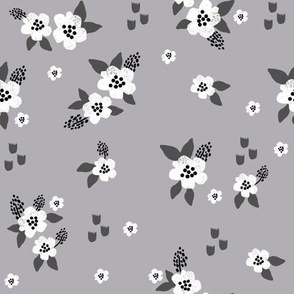 sweet florals // simple spring flowers monarch florals collection by andrea lauren - grey and white
