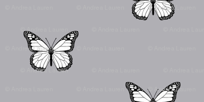 monarch butterfly fabric // simple sweet butterflies design nursery baby girls fabric - gret