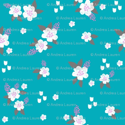 sweet florals // simple spring flowers monarch florals collection by andrea lauren - turquoise and lavender