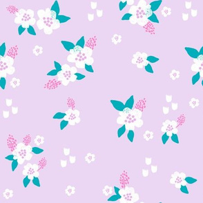 sweet florals // simple spring flowers monarch florals collection by andrea lauren - lavender