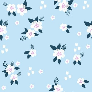 sweet florals // simple spring flowers monarch florals collection by andrea lauren - light blue