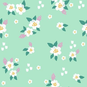 sweet florals // simple spring flowers monarch florals collection by andrea lauren - mint