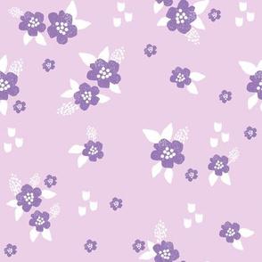 sweet florals // simple spring flowers monarch florals collection by andrea lauren - purple
