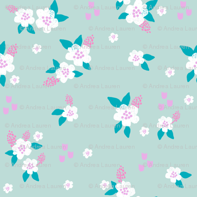sweet florals // simple spring flowers monarch florals collection by andrea lauren - turquoise
