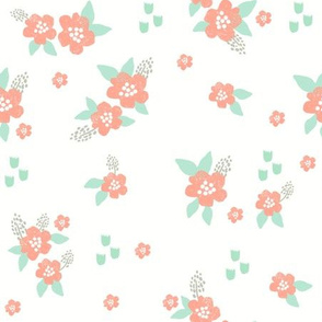 sweet florals // simple spring flowers monarch florals collection by andrea lauren - peach and white