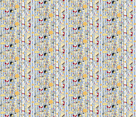 Cheese_repeat_2_stripe_blue fabric by coppercatkin on Spoonflower - custom fabric