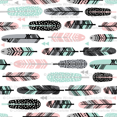 feathers pink and mint southwest boho kids cute nursery pink and mint baby design