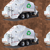 Brown Garbage Trucks