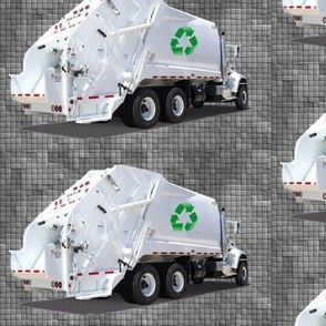 Gray Garbage Trucks