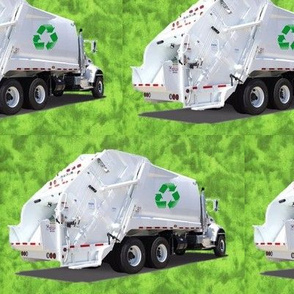Green Garbage Trucks