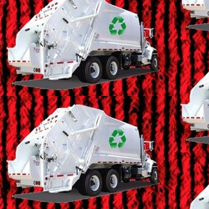 Red Garbage Trucks
