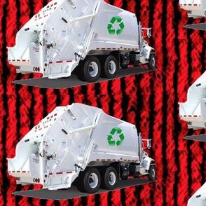 Red Garbage Trucks