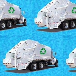 Turquoise Garbage Trucks