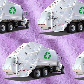 Garbage Recycle Trucks Purple