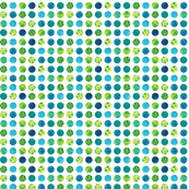 Polka Dots Blue and Green