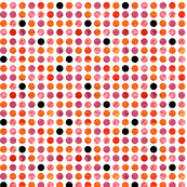 Polka Dots Red and Orange