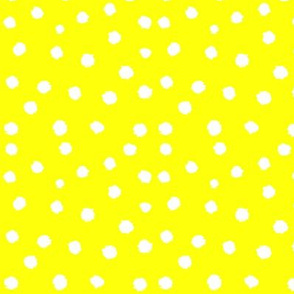 Painted Polka Dot // Yellow