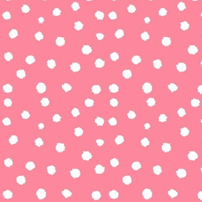 Painted Polka Dot // Coral Pink