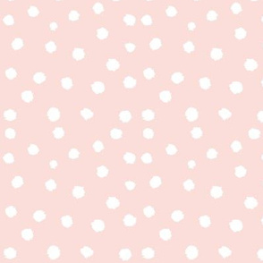 Painted Polka Dot // Light Peachy Pink