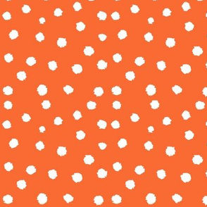 Painted Polka Dot // Bright Medium Orange
