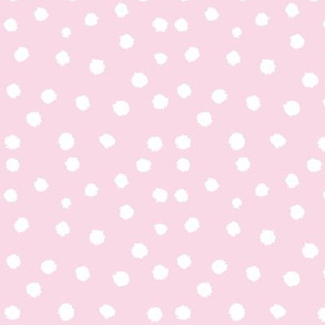 Painted Polka Dot // Baby Pink