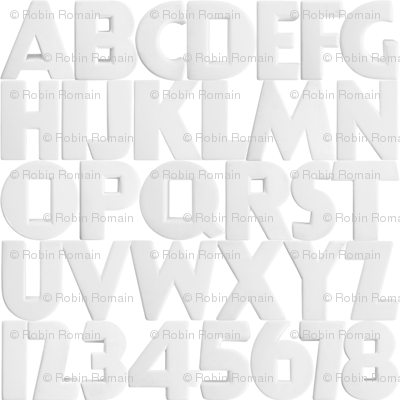 Art Deco Alphabet - large