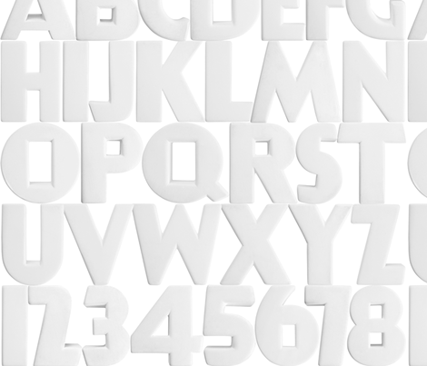 Art Deco Alphabet - medium fabric by rawbonestudio on Spoonflower - custom fabric