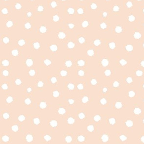Painted Polka Dot // Peachy Tan Neutral