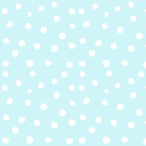 Painted Polka Dot //Light Icy Blue