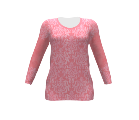 Pink Damask Sleeves